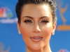 Kim Kardashian Emmy Awards Red Carpet Hairstyle 2010