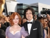 Christina Hendricks and Geoffrey Arend on Emmy Awards Red Carpet