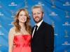 Jenna Fischer and Guest on Emmy Awards Red Carpet 2010