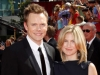 Joel Mchale and Sarah Williams on Emmy Awards Red Carpet