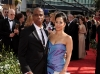 Keith Powell and Guest on Emmy Awards Red Carpet