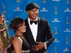 LL Cool J and Simone Johnson on Emmy Awards Red Carpet