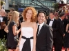 Oscar Nunez and Guest on Emmy Awards Red Carpet