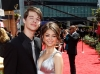 Sarah Hyland and Guest on Emmy Awards Red Carpet