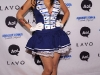 Project Runway Winner Irina Shabayeva at Heidi Klum\'s 2010 Halloween Party at Lavo on October 31, 2010 in New York City.
