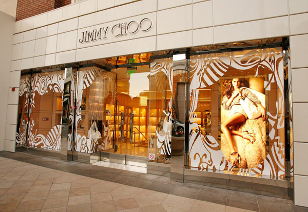 dd1f6fea3a78 Artisticly inspired Jimmy Choo storefront on Rodeo Drive in Hollywood