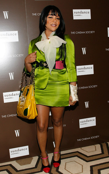 "FirstClassFashionista would like to invite you to shop: DesignerClothes@FirstClassFashionistaDesignerShoes@FirstClassFashionistaDesignerHandbags@FirstClassFashionista Lil' Kim attends the Cinema Society and W magazine's Special Screening of ""Marc Jacobs & Louis Vuitton"" on January 31st, 2007..."