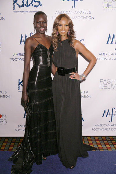 Models Alek Wek and Iman