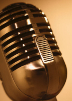 First Class Fashionista's Broadcast Microphone