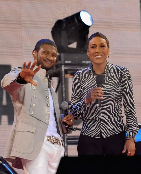 Usher and Robin Roberts