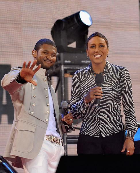Usher and Robin Roberts