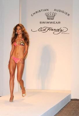 ed hardy swimwear runway model