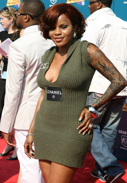 Jackie O's Hair, Chanel Dress & Arm Tattoos: BET Awards 2008