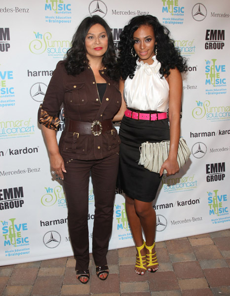 Solange Knowles and Mother Tina Knowles