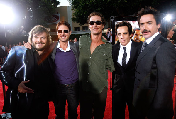 Jack Black, Tom Cruise, Mathew Mcconaughey, Ben Stiller, and Robert Downey Jr.