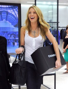 blake lively shopping at Chanel Boutique