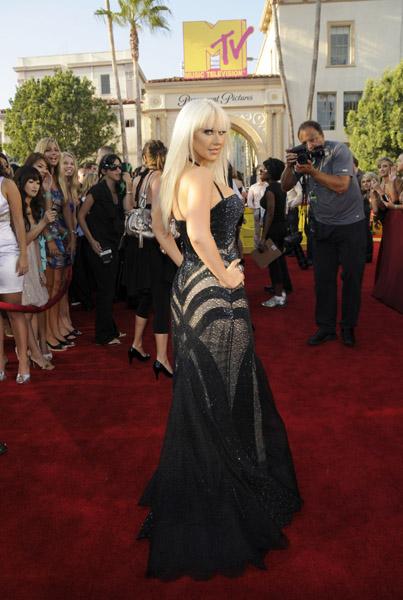 Christina Aguilera on MTV's VMAs Red Carpet