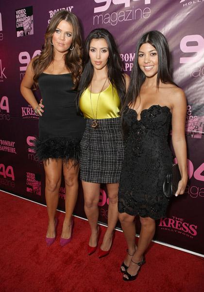 Khloe, Kim and Kourtney Kardashian at MTV VMA Party