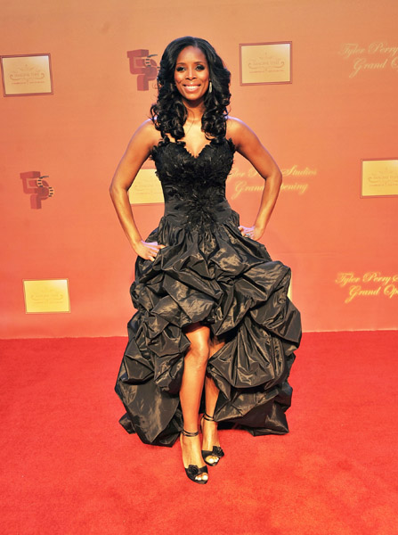 Tasha Smith at Tyler Perry Studio