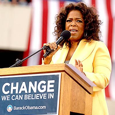 Oprah Winfrey Reaction to President Elect Obama
