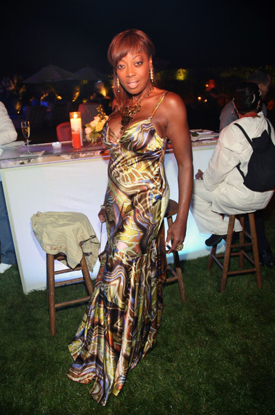 Star Jones at LA Reids Hamptons Party