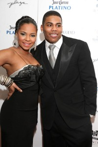 Nelly and Ashanti at Nelly's Annual Black and White Ball