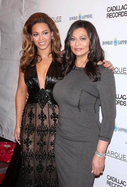 Beyonce and Mama Tina at Cadillac Records Premier