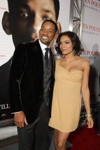 Will Smith and Rosario Dawson at