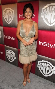 Minka Kelly's Dress at Instyle and Warner Bros Golden Globe Post Party