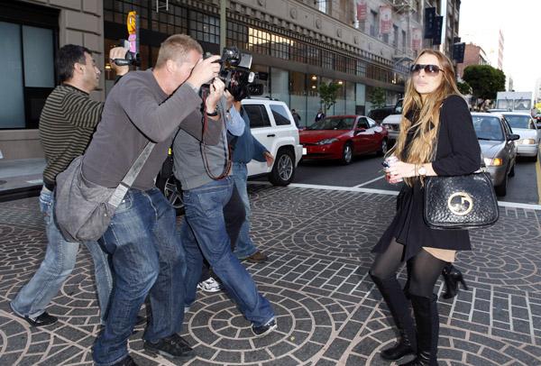 Lindsay Lohan and paparazzi