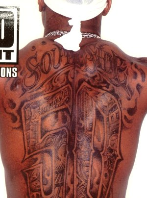 50 Cent's Southside Back Tattoo