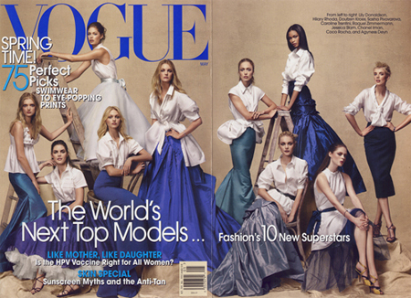 Models on the Cover of Vogue