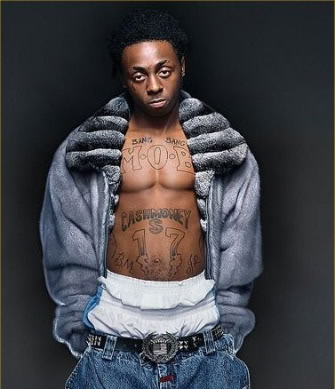 Lil Wayne 39s Chest MOB and Cash lil wayne arm tattoos