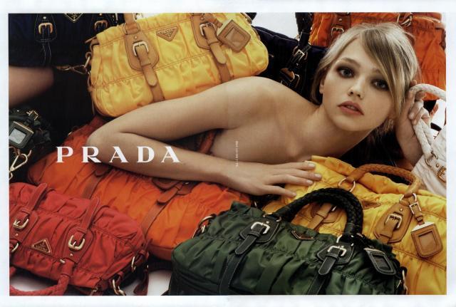Prada's Campaign with Sascha Pivovarova