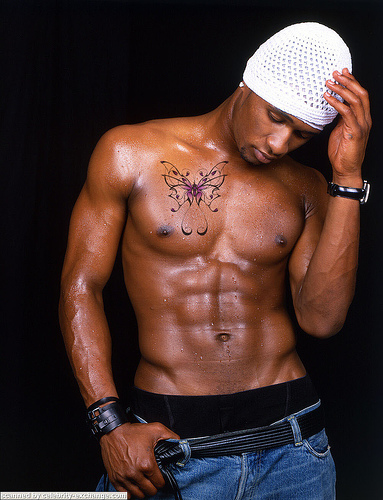 Usher's Butterfly Chest Tattoo