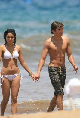 Love Birds Vanessa Hudgens and Zac Efron at The Beach