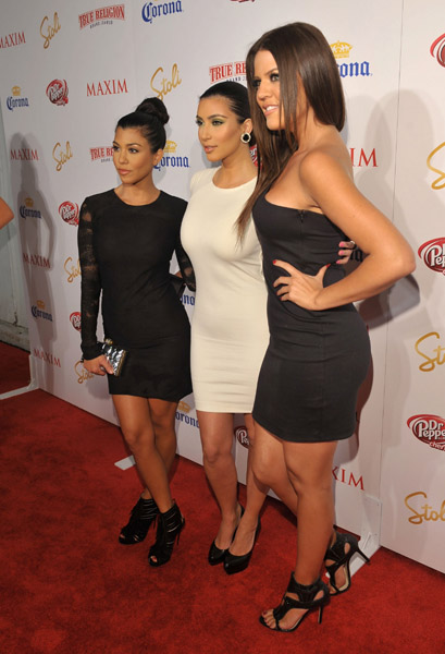 Kourtney Kardashian, Kim Kardashian and Khloe Kardashian