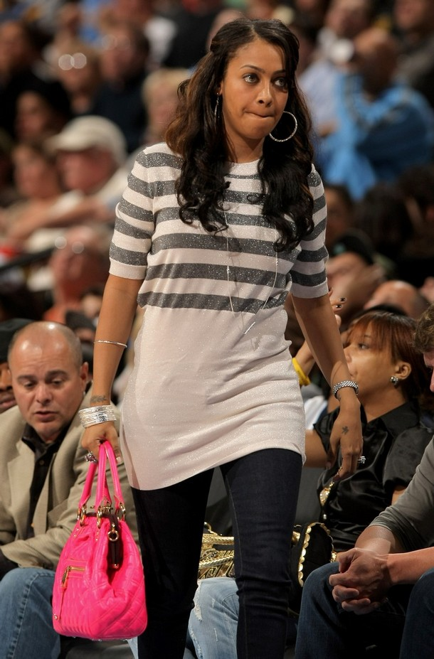 Lala Vasquez at Nuggets Game