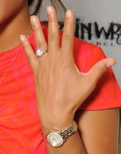 Christina Milian engagement ring close-up