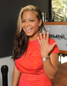 Christina Milian's engagement ring
