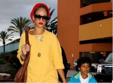 Rihanna and Jay-Z's Son at the Movies