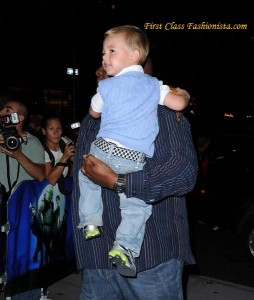Britney and Son Jayden at Shrek The Musical