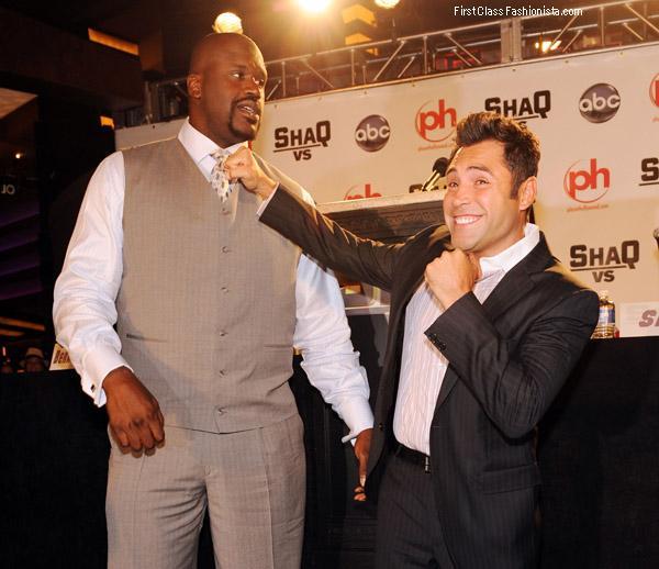 Shaquille O'Neil and Oscar De La Hoya 2
