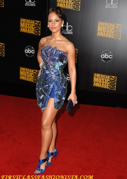 Alicia Keys at the 2009 American Music Awards