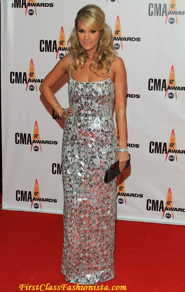 Carrie Underwood at the 2009 Annual CMA Awards