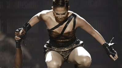JLo Falls on Stage at AMAs
