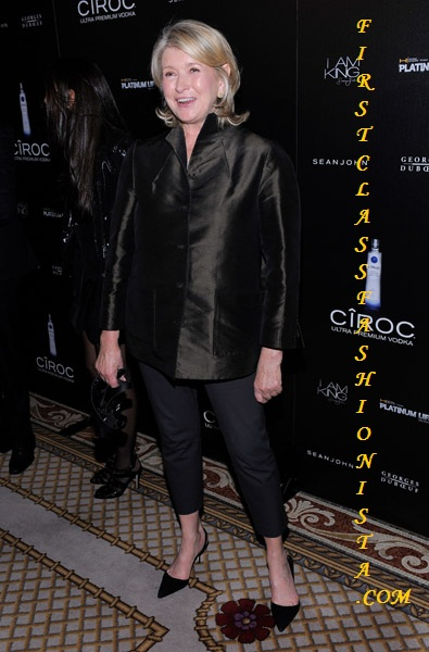Martha Stewart at Sean Diddy Combs Birthday Party