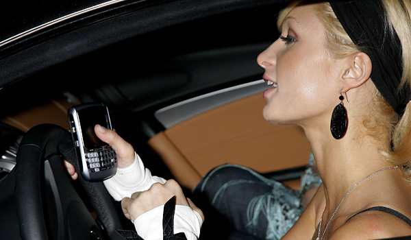 Paris Hilton Texting and Driving