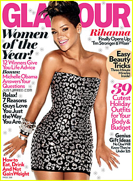 rihanna on the cover of glamour magazine