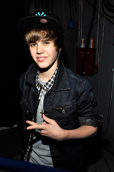 Justin Bieber attends Z100 Jingle Ball 2009